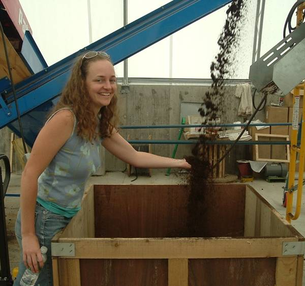 Enjoying a deluge of black gold at the Worm Power facility