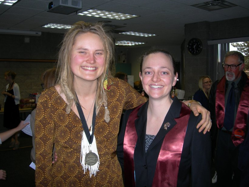 With Eleanore at Prescott College commencement Winter 2012